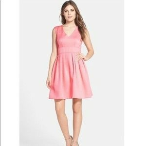 Betsey Johnson Quilted Floral V-Neck Zip Dress 4